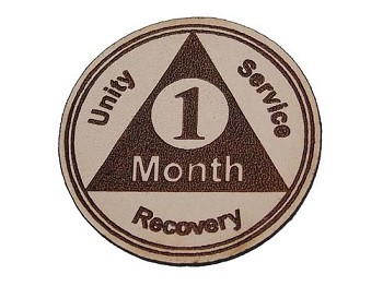 Leather AA Month Anniversary Token