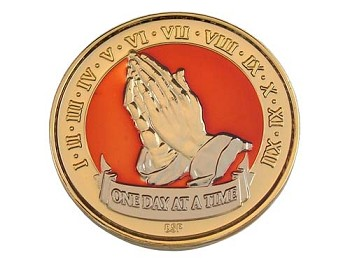 Tri-Plated Praying Hands Recovery Medallion