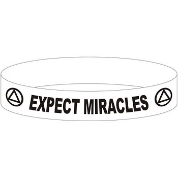 Expect Miracles AA Wristband