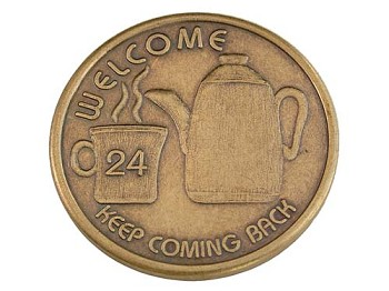 Coffee Pot Welcome Medallion