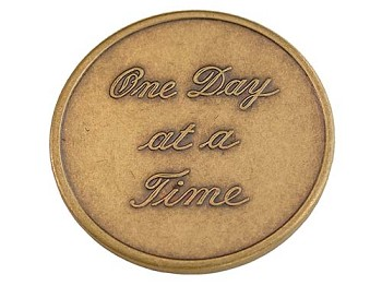 One Day At A Time Script Medallion