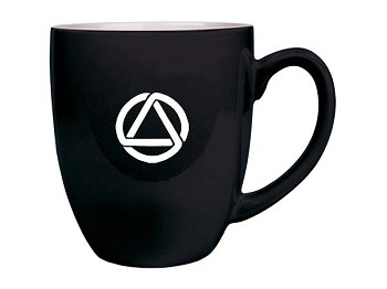 Alcoholics Anonymous Circle & Triangle Bistro Mug