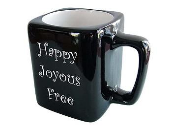 joyous unique coffee mug. Happy Joyous Free Coffee Mug  Unique 12 Step Slogan Mugs and