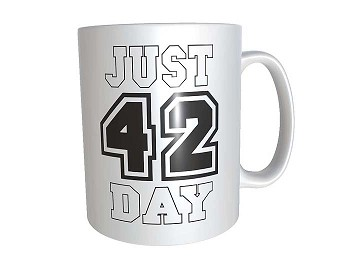 Personalized Just 42 Day Mug