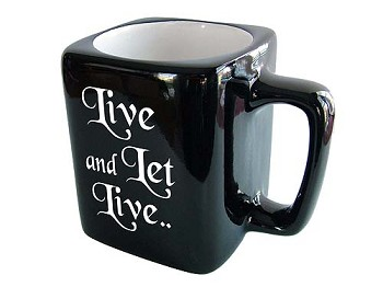 Live and Let Live Coffee Cup