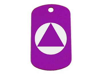 Personalized AA Symbol Dog Tag