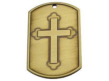 Dog Tags - Cross with Blank Back
