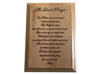 The Lord's Prayer - Engraved Plaque - Scratch and Dent