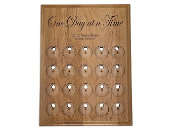20 Space Personalized One Day at a Time Medallion Holder
