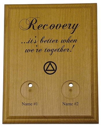 Personalized Couples AA Token Holder
