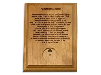 Acceptance Medallion Holder