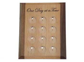 Deluxe Medallion Holder/Display with One Day at a Time
