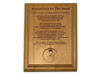 Footprints Medallion Holder