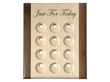 Just for Today Deluxe Maple Token Display Plaque
