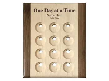 One Day at a Time Personalized Token Holder