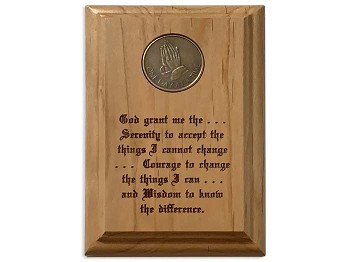 Basic Serenity Prayer Medallion Holder 4x6 inch
