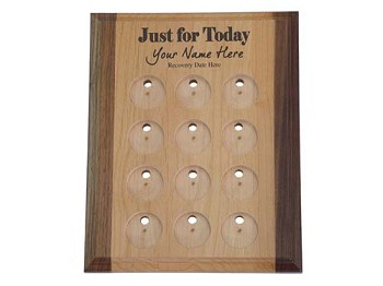 Just For Today Personalized Medallion Holder