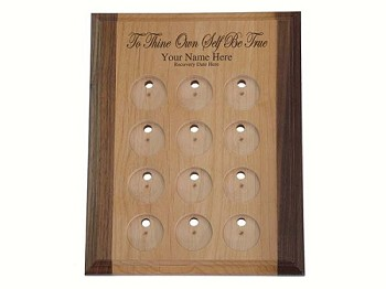 Personalized Medallion Display - To Thine Own Self Be True