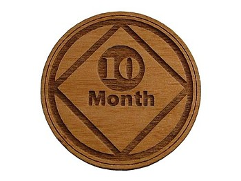 Narcotics Anonymous 10 Month Recovery Medallion