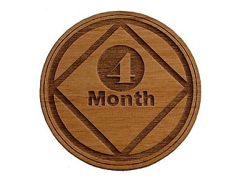 Narcotics Anonymous 4 Month Recovery Token