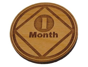 Narcotics Anonymous 1 Month Recovery Medallion
