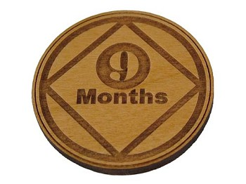Narcotics Anonymous 9 Month Recovery Medallion