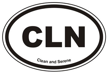 CLN Oval Sticker Decal