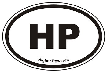 HP Oval Sticker