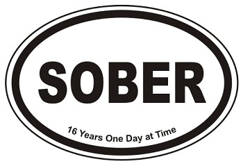Sober Oval Stickers