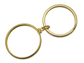d1ce2b19d2e Recovery Medallion Key Ring - Gold Filled Bezel Holders