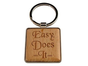 Recovery Slogan Key Tag