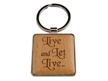 Live and Let Live Key Tag