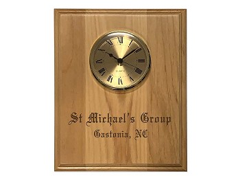 Homegroup Plaque w/Clock