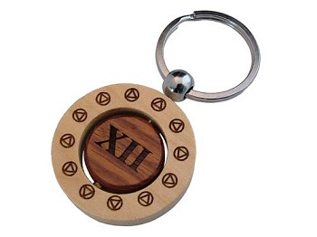 AA Birthday Spinner Key Chain