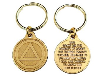 Bronze Circle and Triangle Key-Charm