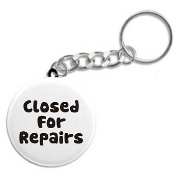 Closed For Repairs - Recovery Key Tag