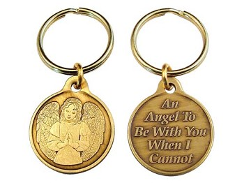 Bronze Praying Angel Key Charm