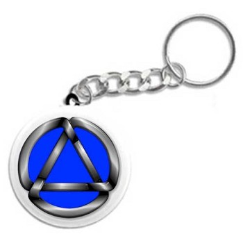 Cool Look Circle Triangle - Recovery Key Tag