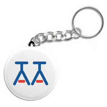 Turned Down Glasses - Unique AA Key Chain
