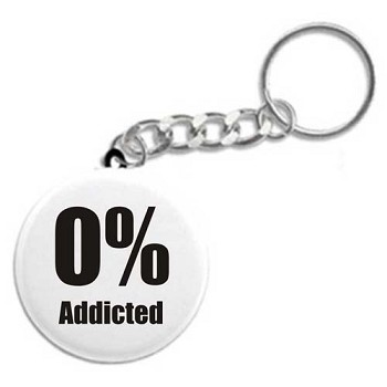 0% Addicted - Recovery Keychain
