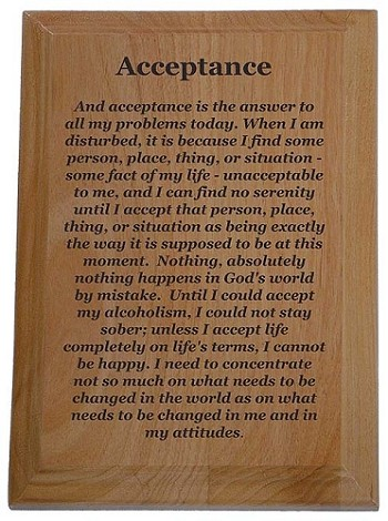 Acceptance Quote Plaque