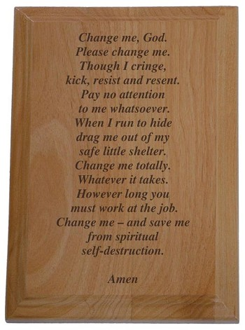 The Change Me Prayer Plaque