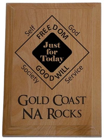 Gold Coast NA Rocks Plaque