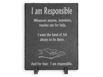 AA Pledge of Responsibility Slate Plaque