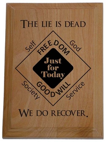 The Lie Is Dead We Do Recover Plaque