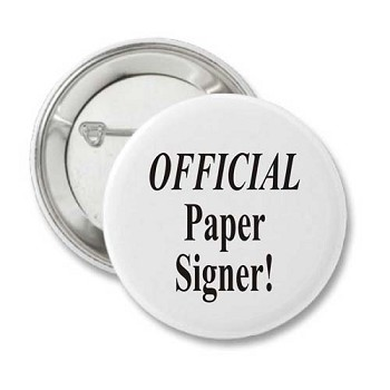 Official Paper Signer - Recovery Badge
