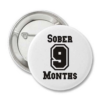 Months Sober Button