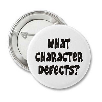 What Character Defects? Recovery Buttons