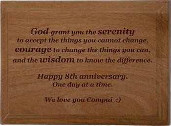 Special Serenity Prayer Plaque