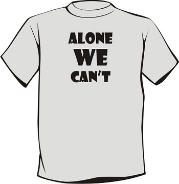 Alone We Can't Recovery T-Shirt
